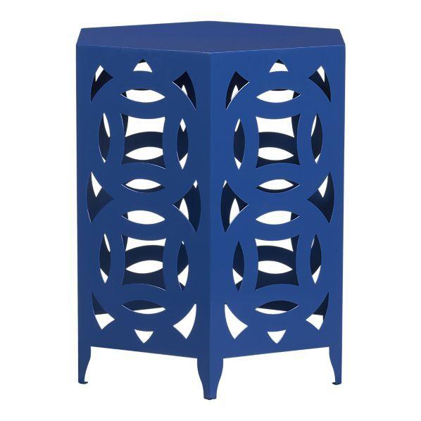 Best Olha Ai Uma Side Table Blue Side Table Side Table Decor 400 x 300