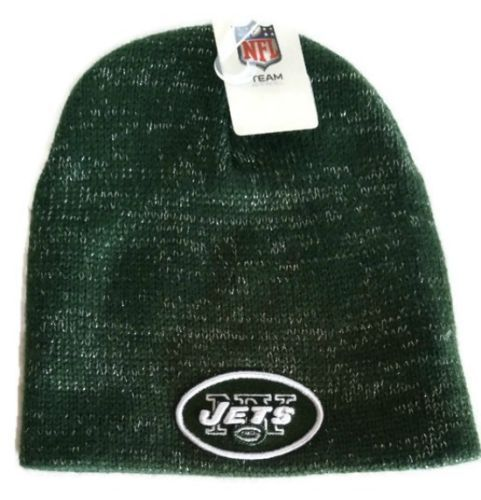 New York Jets Winter Beanie Hat Women One Size Glistner New NFL Skull Cap 40ad5689d02