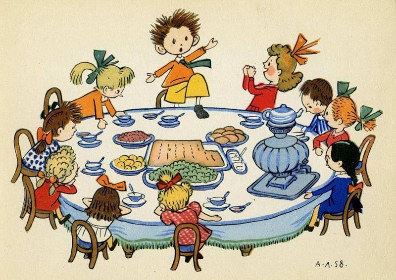 Детские картинки гости