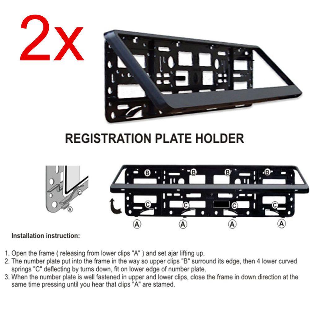 2x Black ABS Number Plate Surrounds Holder Frame For MINI BMW Hatch Cooper | eBay  sc 1 st  Pinterest & 2x Black ABS Number Plate Surrounds Holder Frame For MINI BMW Hatch ...