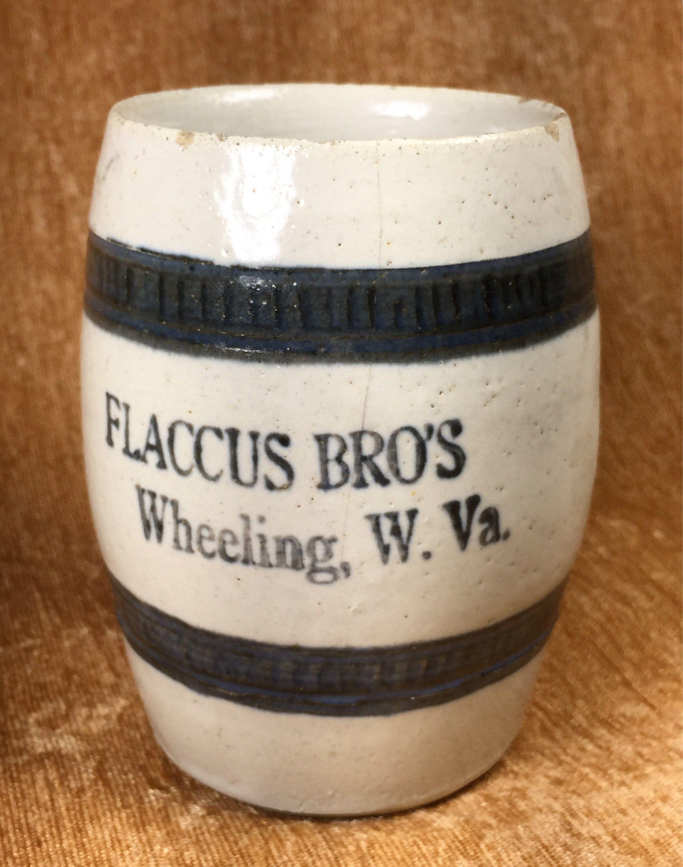 Antique Flaccus Bro S Stoneware Wheeling W Va Mug 4