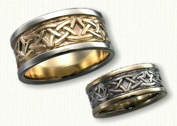 Celtic Arches Wedding Band All Metals Available Affordable
