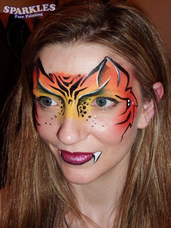 tiger tijger face painting pinterest kinderschminken katze schminken und schminkgesichter. Black Bedroom Furniture Sets. Home Design Ideas