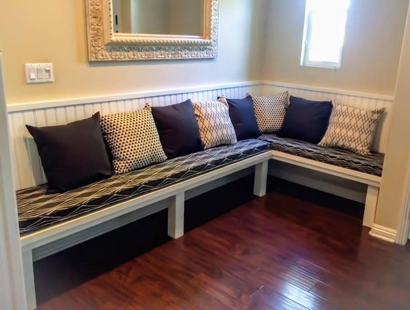 Bench Seat Nook Window Cushions Custom Made Example Etsy Nook