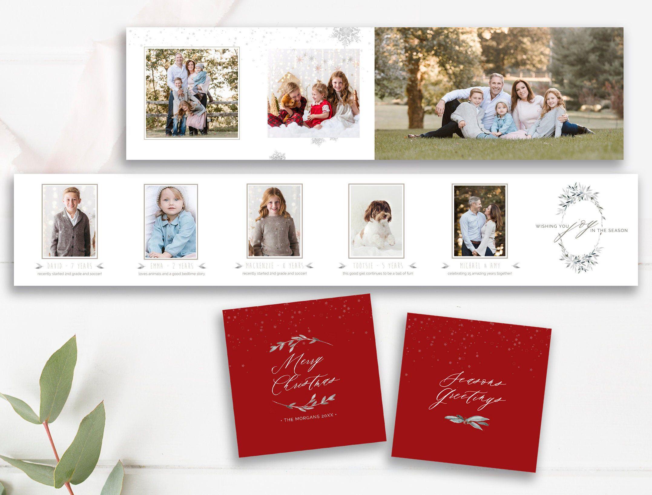 Christmas Accordion Mini Photo Book Photographer Templates By Stephanie Design Mini Photo Books Christmas Photo Album Accordion Templates