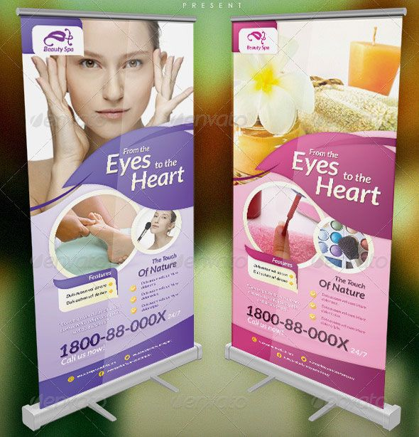 20 Great Spa And Beauty Salon Banner Psds Banner Design Inspiration Spa Brochure Design Creative