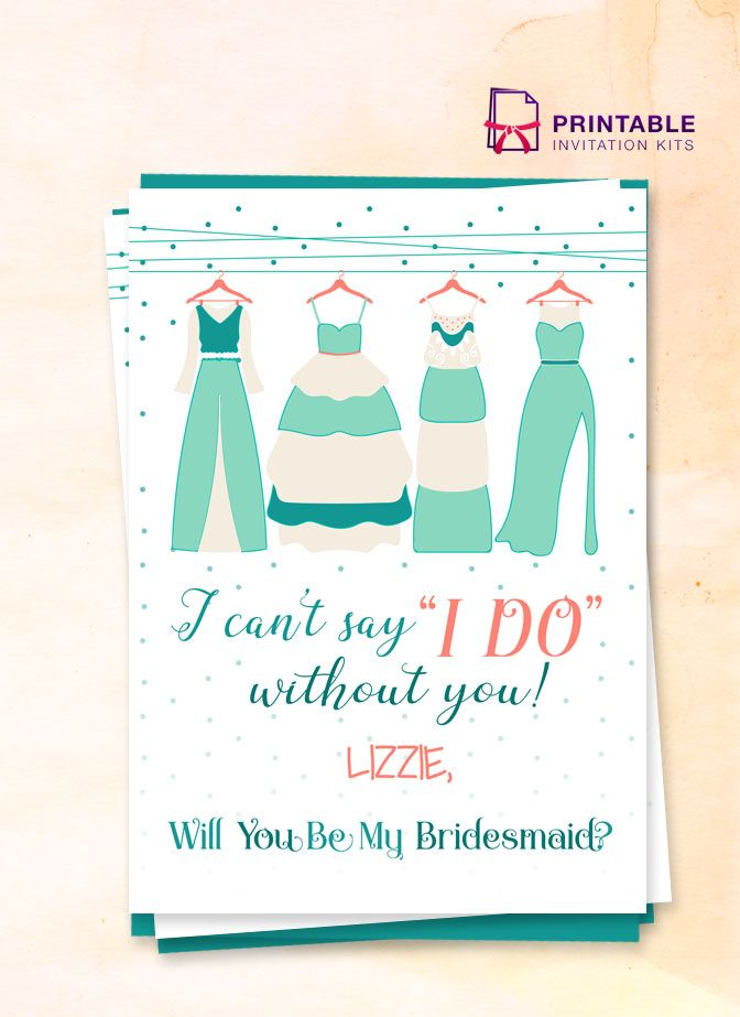photograph regarding I Can't Say I Do Without You Free Printable known as Totally free PDF - I Cant Say I Do With no Oneself Bridesmaid invitation
