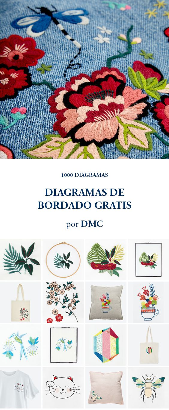 DIAGRAMAS DE BORDADO GRATIS | Pinterest | Bordado, Bordados ...