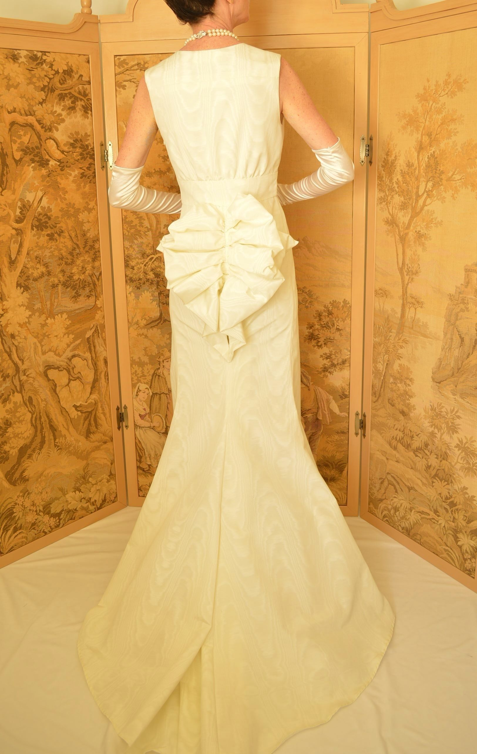 Back view of bustle wedding gown bustle wedding dress pinterest