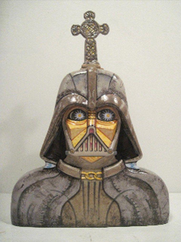 John De Fazio Cubist Darth Vader Crematory Urn Sick Ceramic