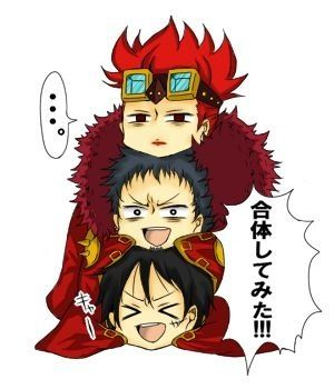 Eustass Kid Trafalgar Law And Monkey D Luffy One Piece