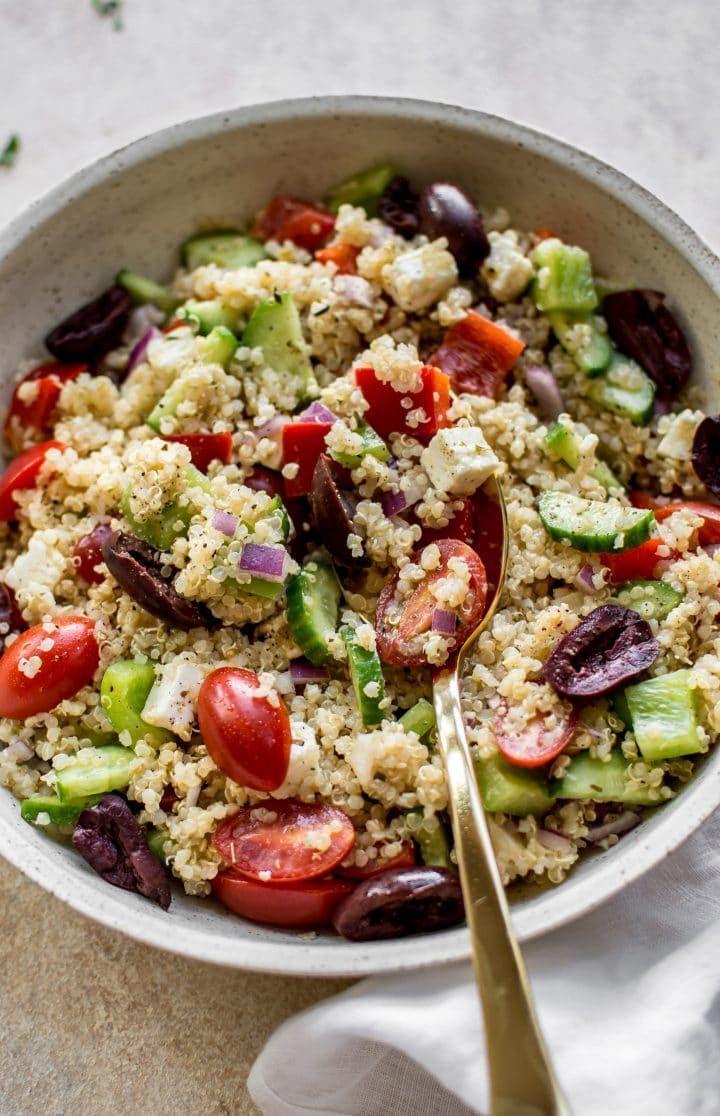 Mediterranean Quinoa Salad   Recipe   Easy healthy recipes ...