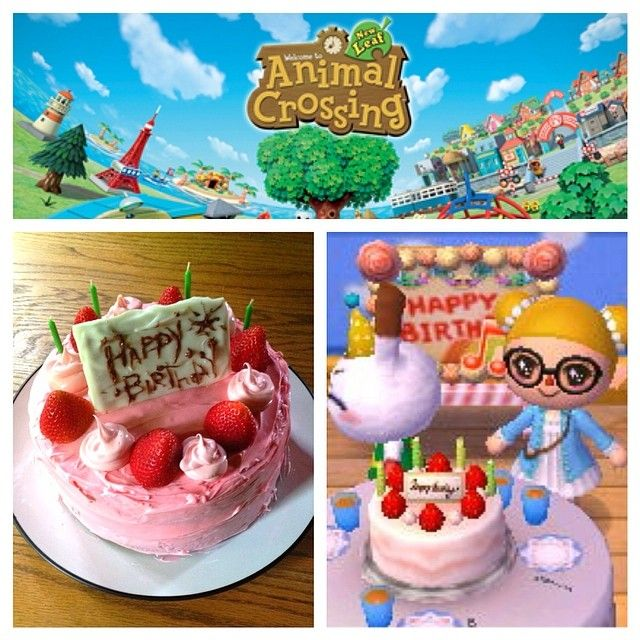 Superb The Wild Bunny Animal Crossing Birthday Cake See More Projects Personalised Birthday Cards Veneteletsinfo