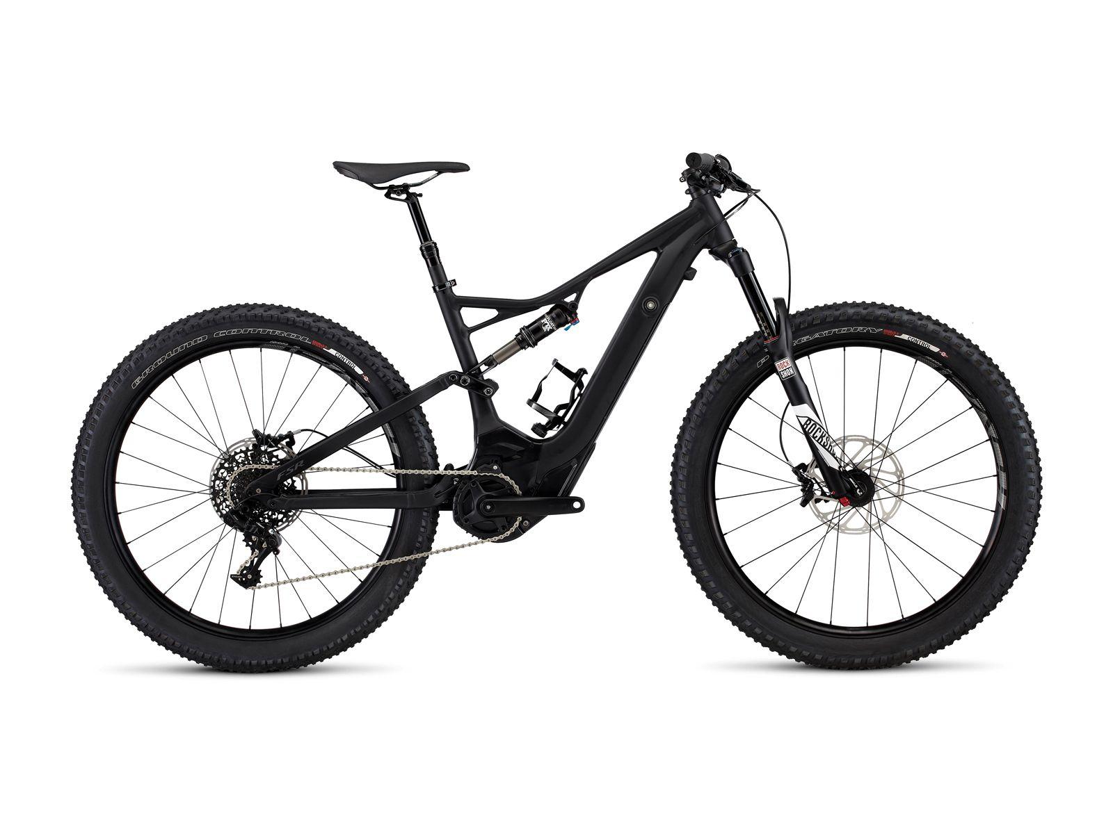 Specialized Turbo Levo Fsr Comp 6fattie 2017 Black E Bike Specialized Turbo Levo Electric Mountain Bike Mountain Biking Specialized Bikes