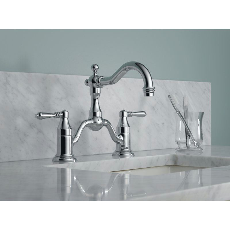 Brizo 65536LF-PC-ECO Tresa Chrome Two Handle Bridge Bathroom Faucets ...
