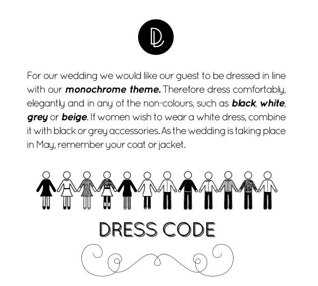 Reminder Message We Sent Guests About Dress Code Wedding