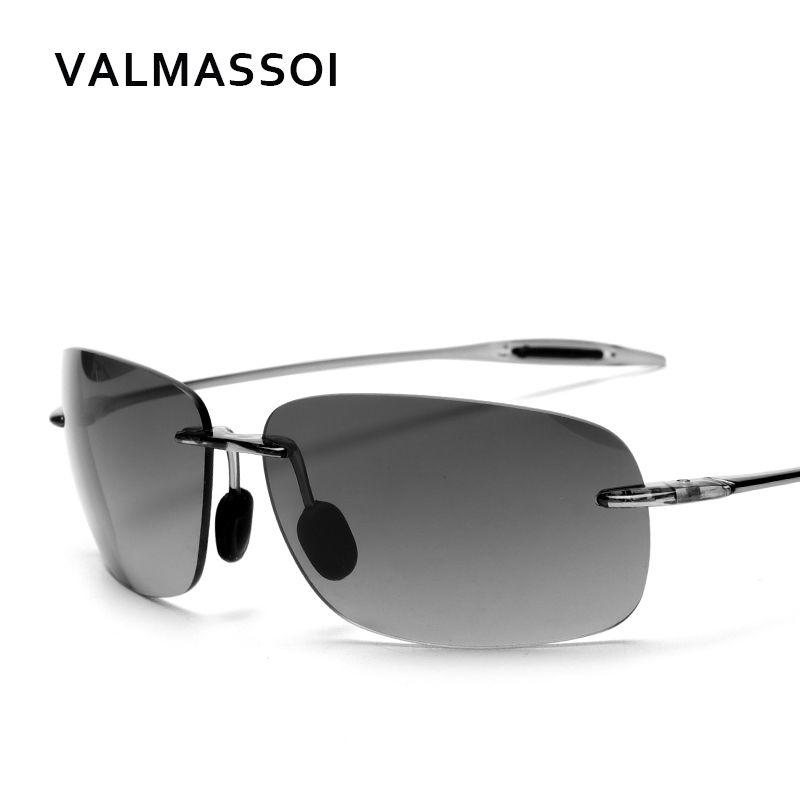 f1df37bde4c 2018 UV400 men glasses Rimless night driving Frameless shades designer  brand men sunglasses  MJ-HT422 Review