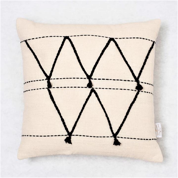 Hammamet Throw Pillow Cream Throw Pillows African Throw Pillows Cream Throw Pillows