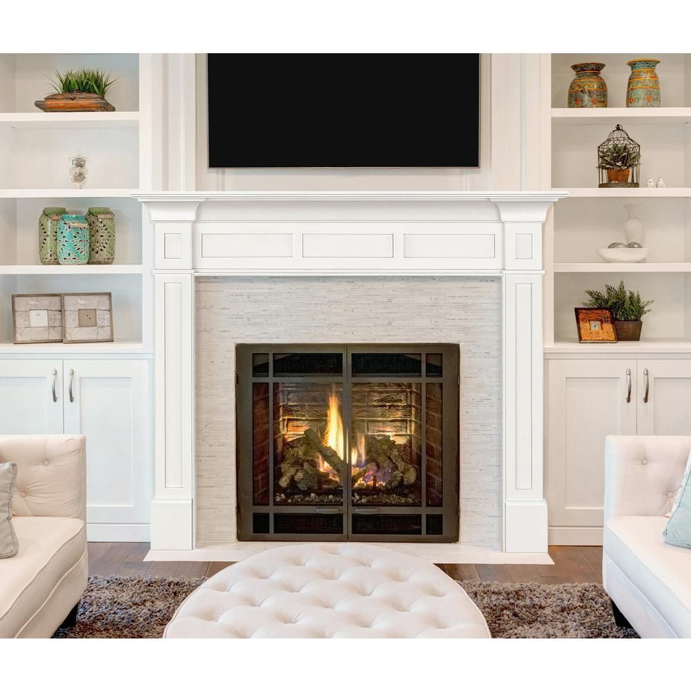 Pearl Mantels The Jim 48 In X 42 In Mdf Fireplace Mantel In