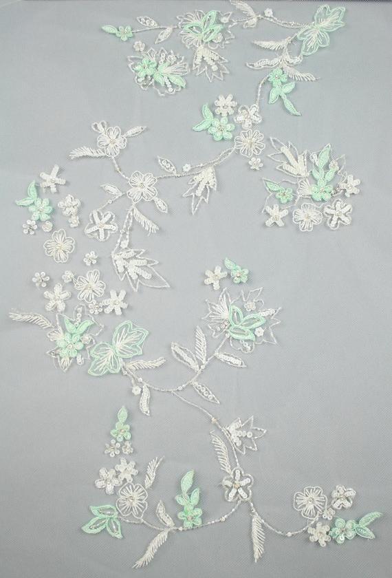 Custom Embroidery Beading Panel used as Beaded Trim | Etsy