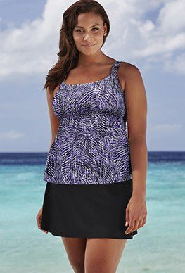 Plus Size - Beach Belle Sea Holly Flared 26-34 Skirtini