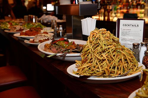 Eating At Carmine's In New York City Theater District