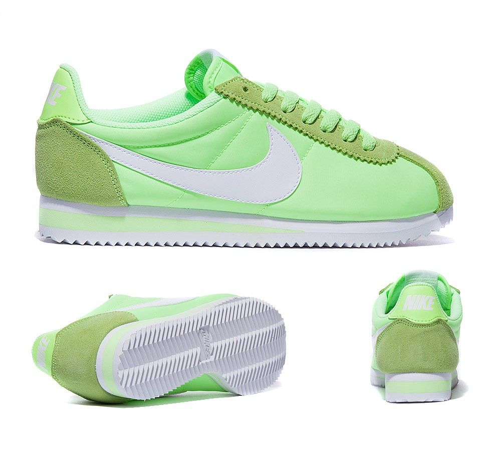 promo code 1e3d8 5cde9 ... oxford cloth shoes fluorescent green deomf5ho 97866 38b74  greece new  white womens classic green nike cortez nylon trainers ghost 100422 271d9  b6fac