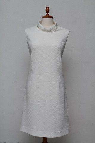 Hvid cocktailkjole 1960. M