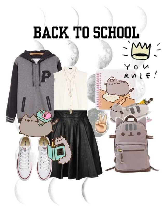 """""""#PVxPusheen"""" by irinq ❤ liked on Polyvore featuring Pusheen, Jil Sander Navy, Jeremy Scott, Converse, contestentry and PVxPusheen"""