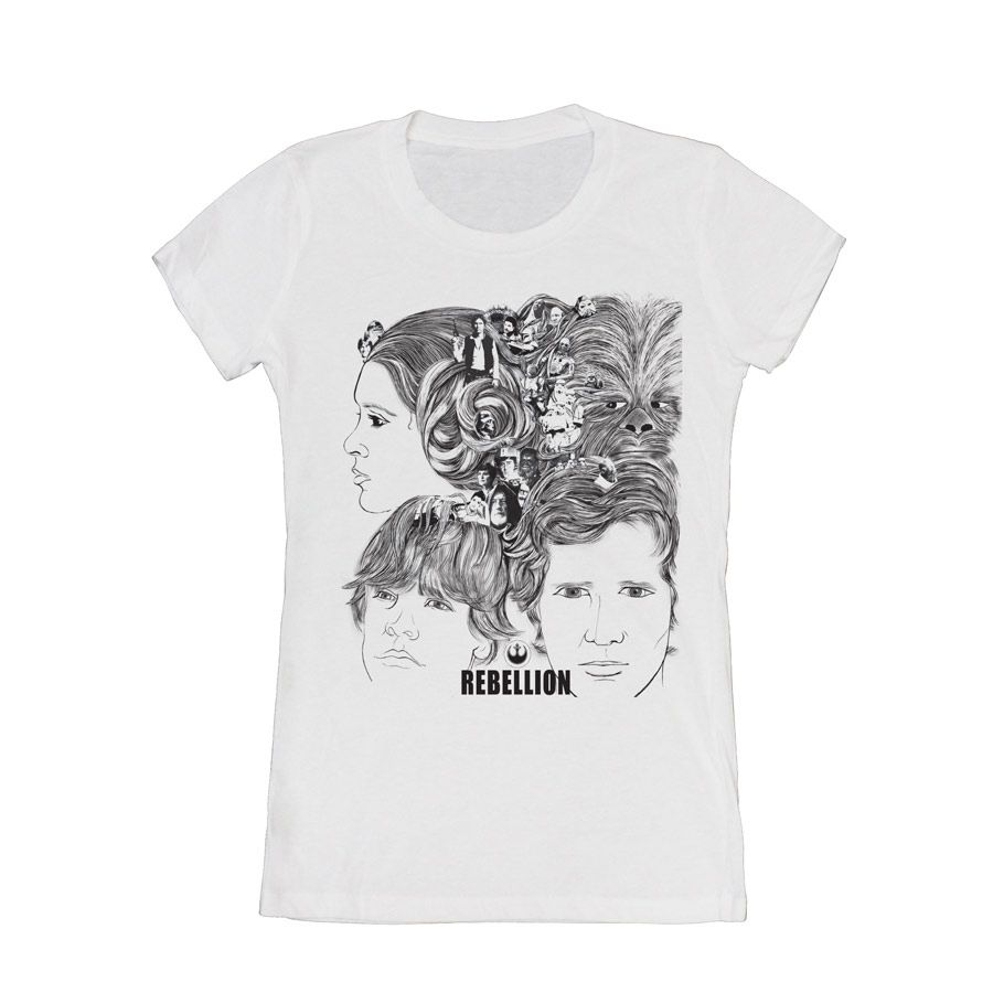 d8a5fd381 Beatles 'Revolver'/Star Wars mash-up tee.Rebellion Cover Mens T-Shirt    StarWars.com