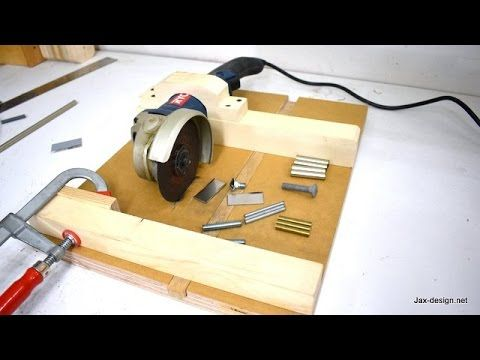 This Angle Grinder Jig Is Not Only Easy To Make It Is Easy To Use The 90 Degree Miter Fence With Stopblock Le Angle Grinder Homemade Tools Angle Grinder Stand