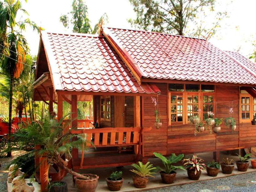 Simple Modern Wooden House Design