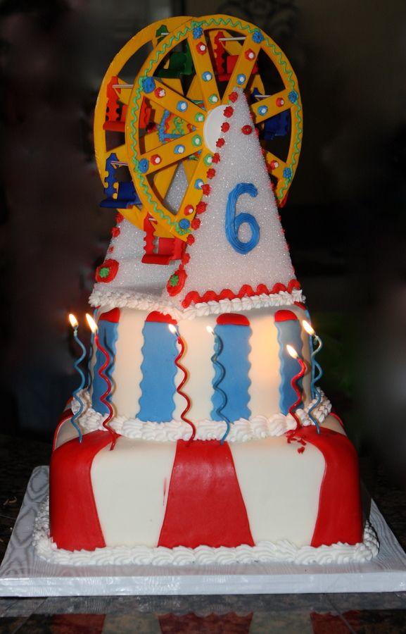 Carnival Ferris Wheel 6th Birthday Cake Childrens Cakes Cakes