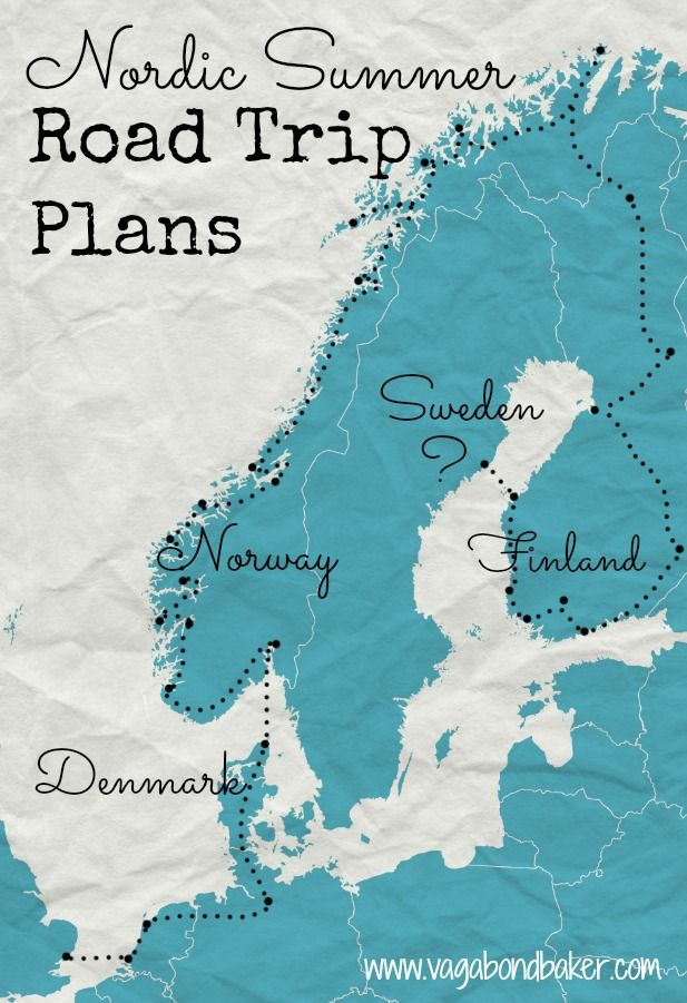 Nordic Road Trip Plans And Preparations Road Trips Finland And - Norway highway map