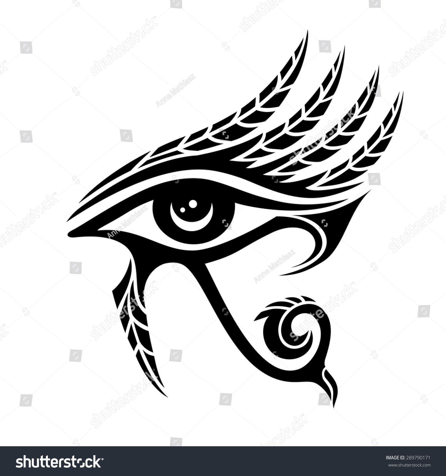 Stock vector horus eye ancient egypt falcon god feathers 289790171 stock vector horus eye ancient egypt falcon god biocorpaavc Gallery