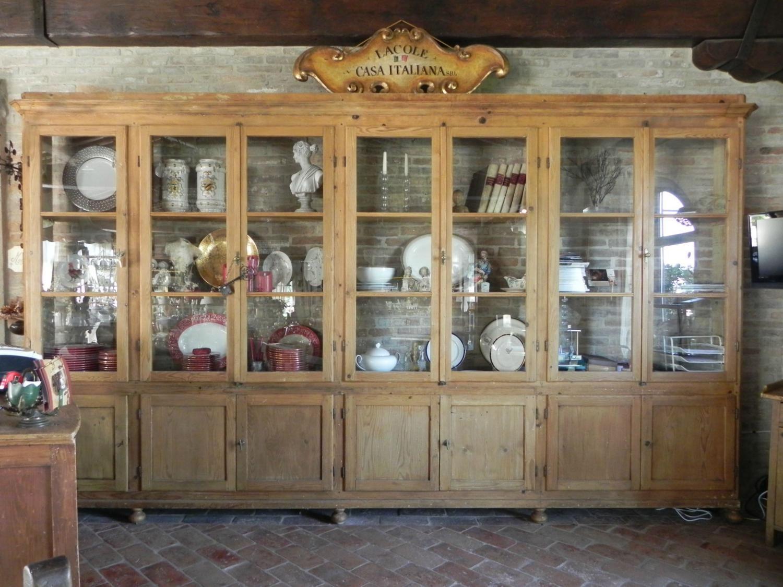 Libreria antica in abete lacole casa italiana arredi - Lacole casa italiana perugia ...