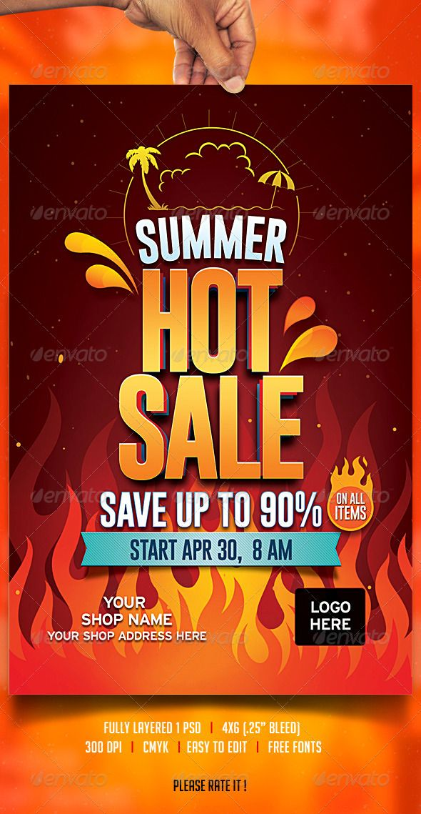 Summer Sale Flyer Pinterest Sale Flyer Party Flyer And Flyer - Sales flyer template photoshop