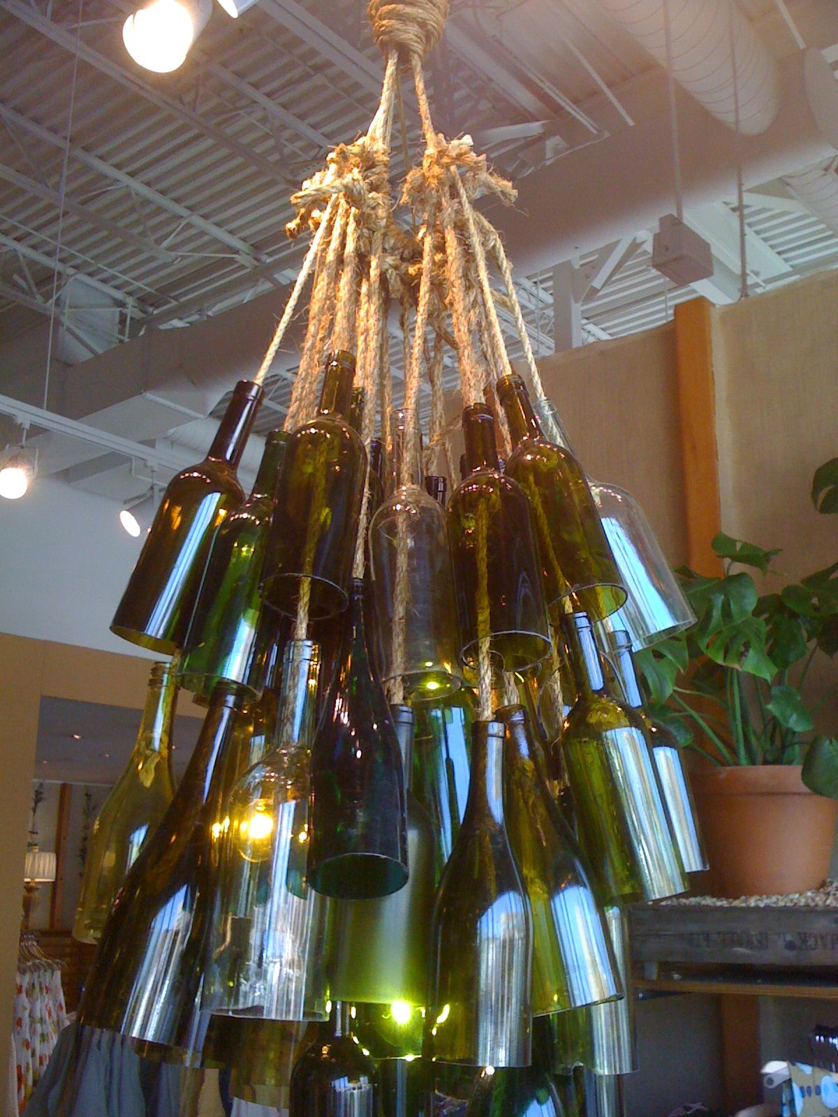 Wine Bottle Light Fixture Wine Bottle Light Fixture Not Sure Where Crafts Pinterest