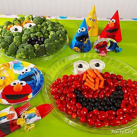 Elmo birthday party ideas AppetizersFruit Vegie Trays