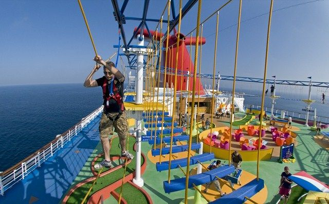 Norwegian Sky Cruise Ship Ever Ropes Course At Sea