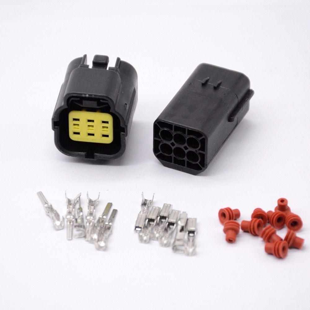 5 set 6 Pin Way Waterproof Wire Connector Plug Car Auto