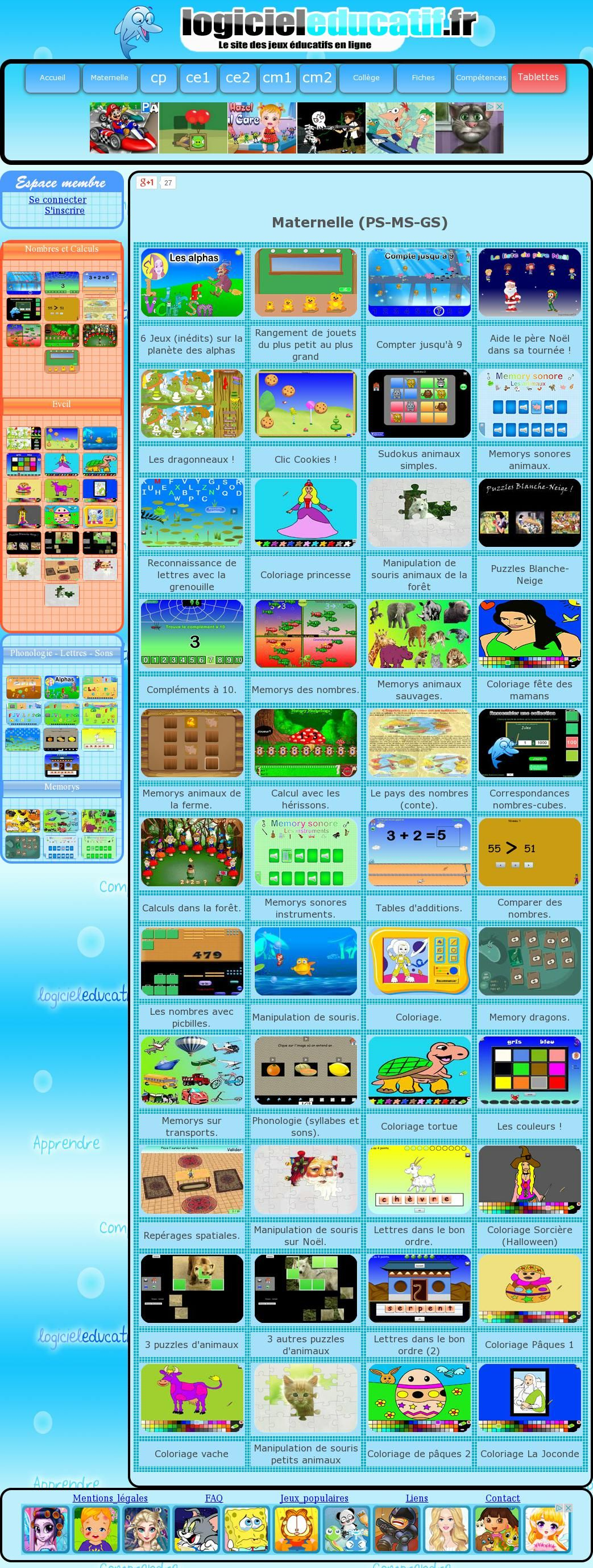 logiciel ducatif jeux ducatifs gratuits en ligne de la maternelle au cm2 the website 39 http. Black Bedroom Furniture Sets. Home Design Ideas