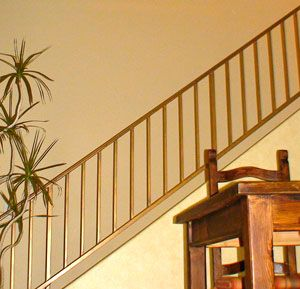 Best Wrought Iron Staircase Railings Faux Painted To Look Like 400 x 300