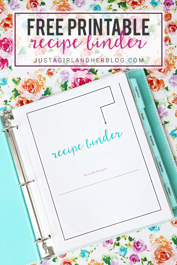 FREE Printable Recipe Binder | For the Home | Recipe ...