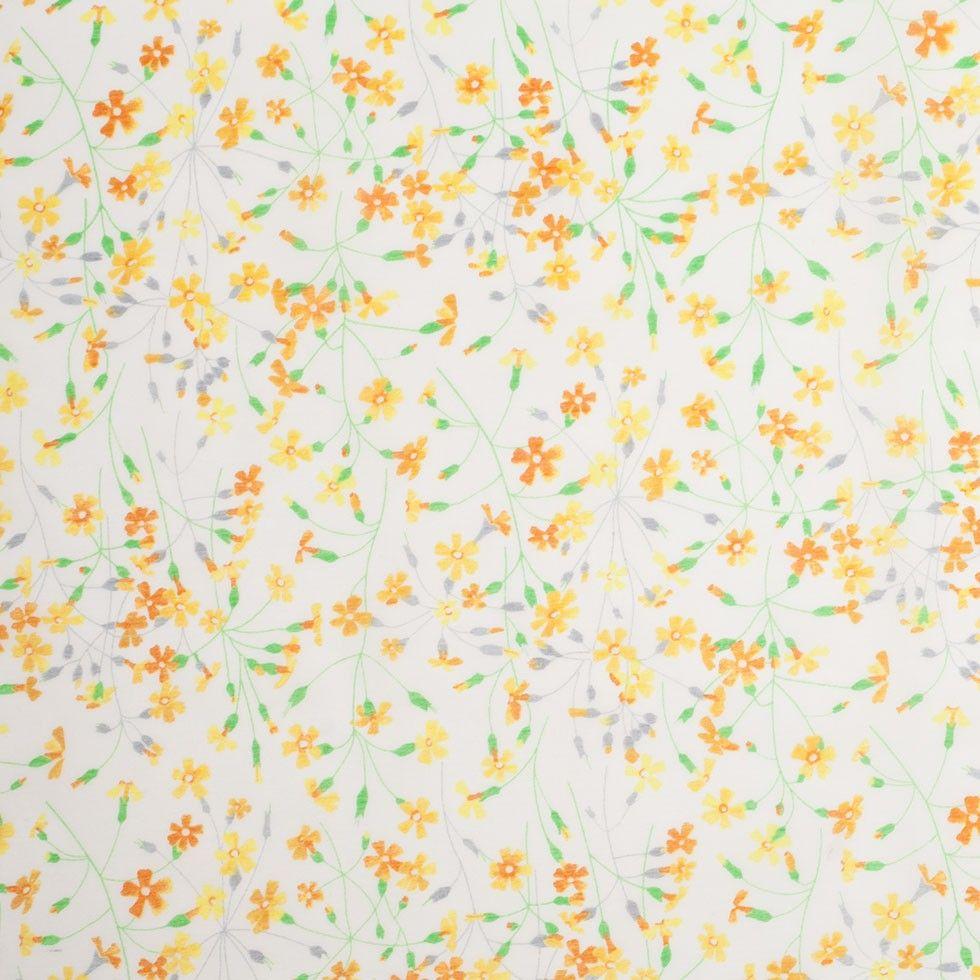 Liberty Of London Suria Yellow Orange Silk Cotton Voile Silk