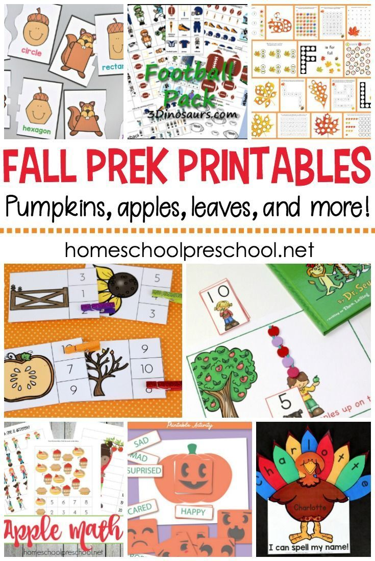 - Free Fall Printables For Preschool Themes And Units (With Images