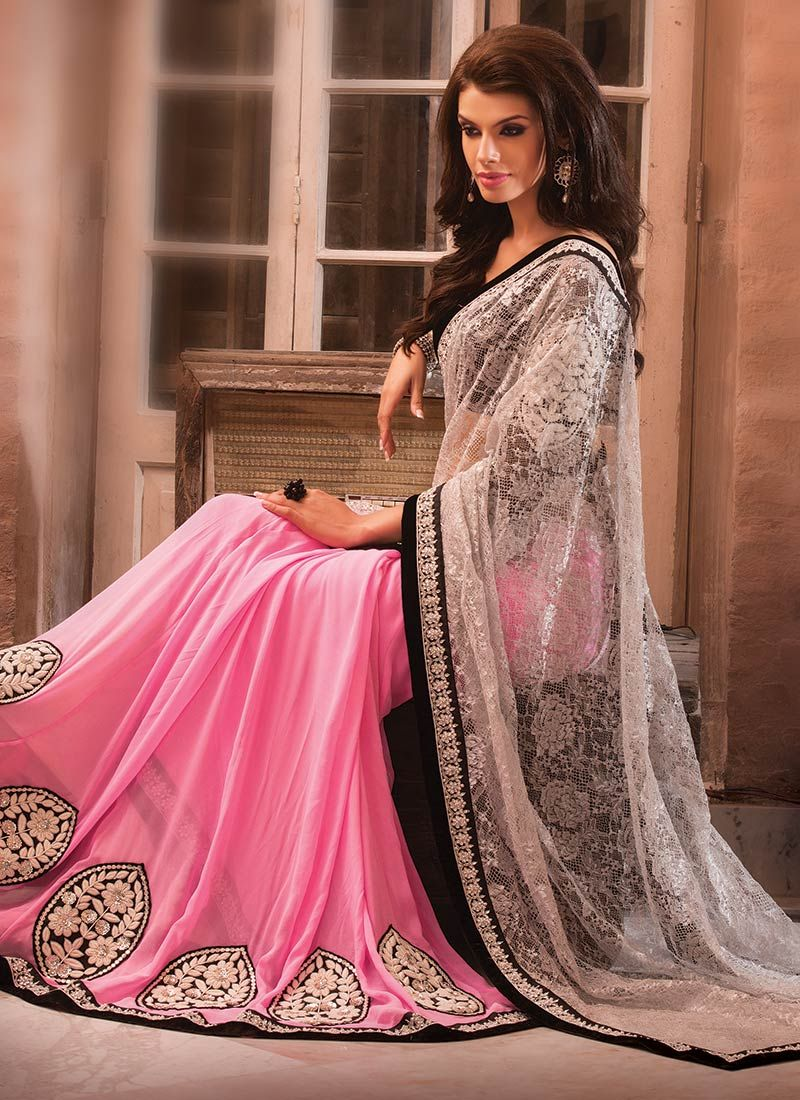 Pleasing Net N Pure Georgette Lehenga Saree | Indian Outfits | Pinterest