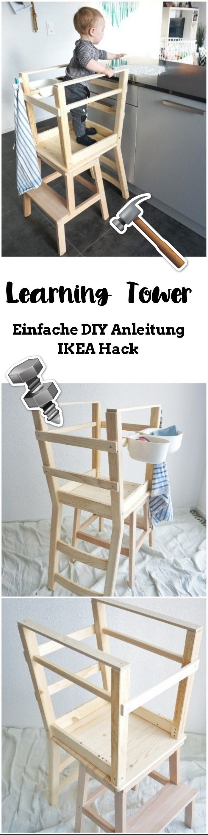 eine einfache learning tower lernturm bauanleiting aus den zwei ikea m bel bekv m und ivar. Black Bedroom Furniture Sets. Home Design Ideas