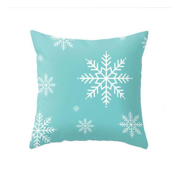 Aqua Christmas pillow Snow flakepillow Teal Christmas decor Robins Egg... (44 CAD) ❤ liked on Polyvore featuring home, home decor, christmas home decor, aqua home decor, teal home accessories, aqua home accessories and teal home decor