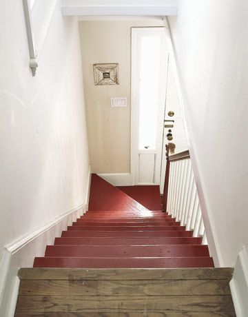 Painted Staircase Bare Wood Runner Painted Staircases Diy